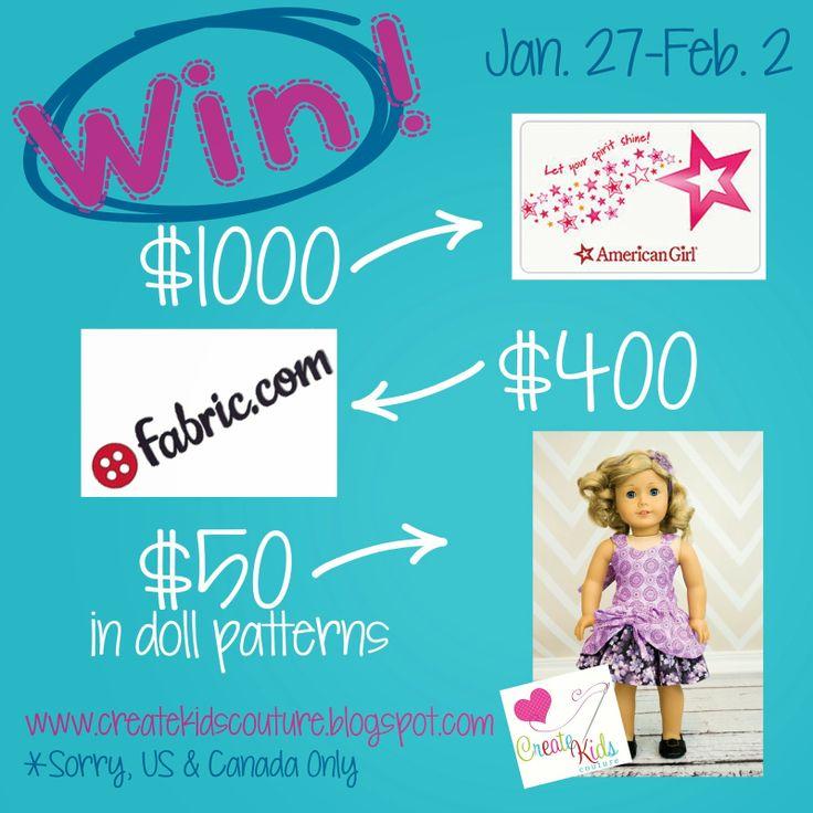 American Girl Shopping Spree contest