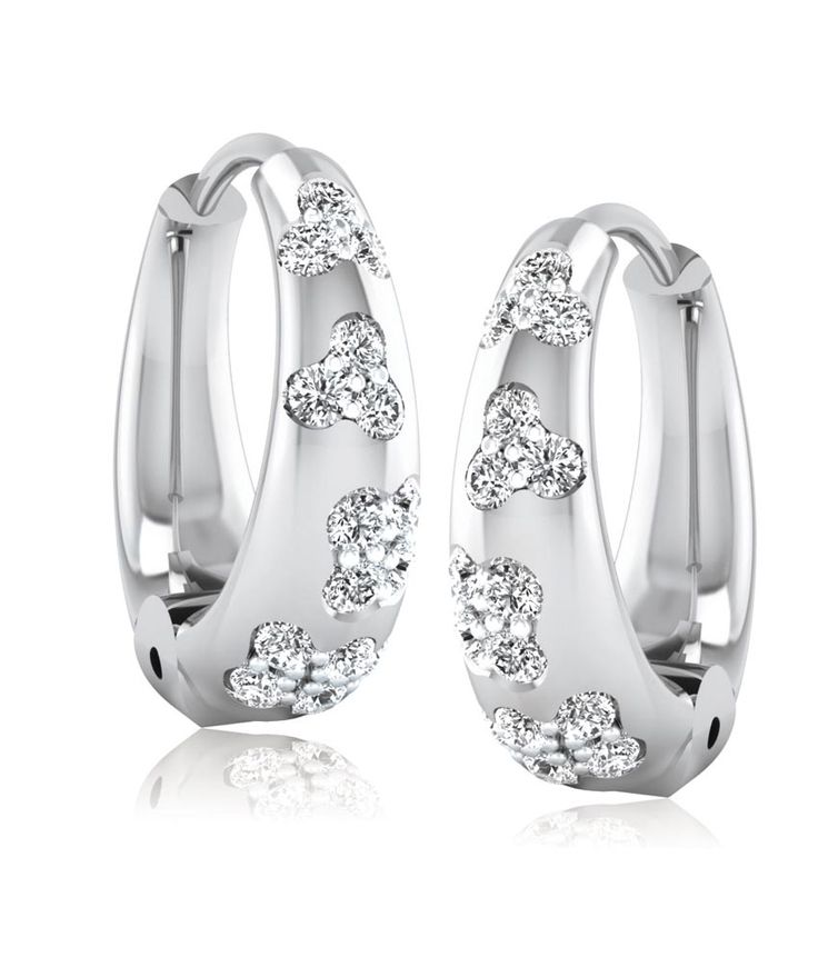 Forever Carat Dazzling Real Diamond 925 Sterling Silver Earrings, http://www.snapdeal.com/product/forever-carat-dazzling-real-diamond/1267823690
