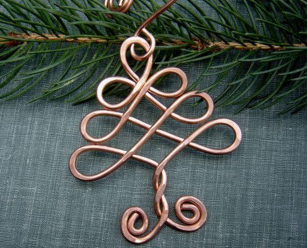 christmas tree decoration ideas copper wire ornaments