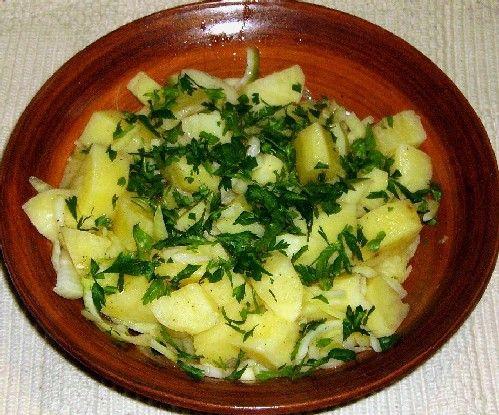 Photo of Greek Potato Salad - Patatosalata - Photo © Jim Stanfield
