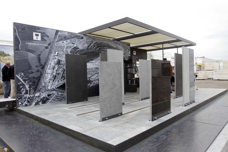 Lo stand di Carrieres du Hainaut: Best Communicator Award 2015, il premio dedicato al miglior spazio espositivo e all'exhibit design // Best Communicator Award 2015. The award for the best exhibit space. #Marmomacc #Marble #Stone #Design #Verona #architecture #award