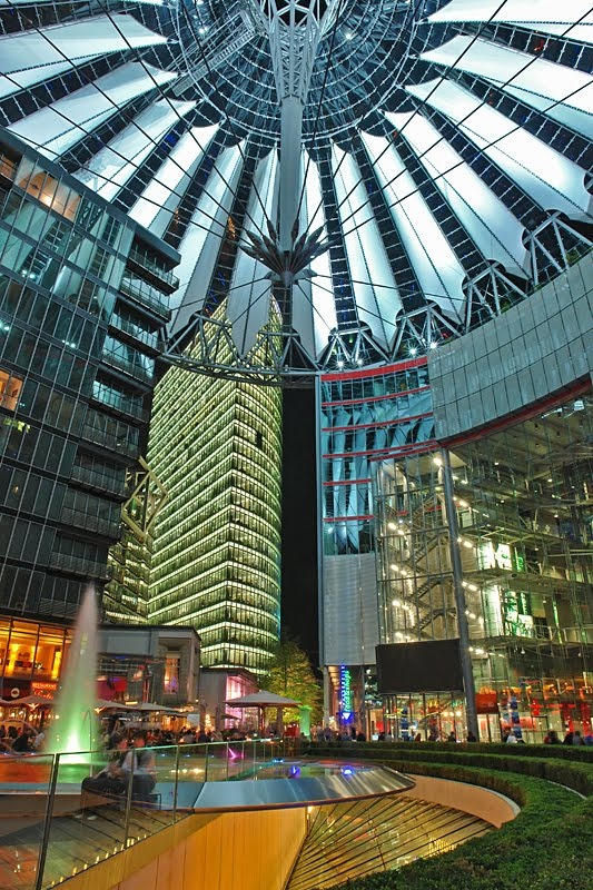 The Sony Center am Potsdamer Platz in Berlin, is stunning with its huge roof construction. You must have seen.