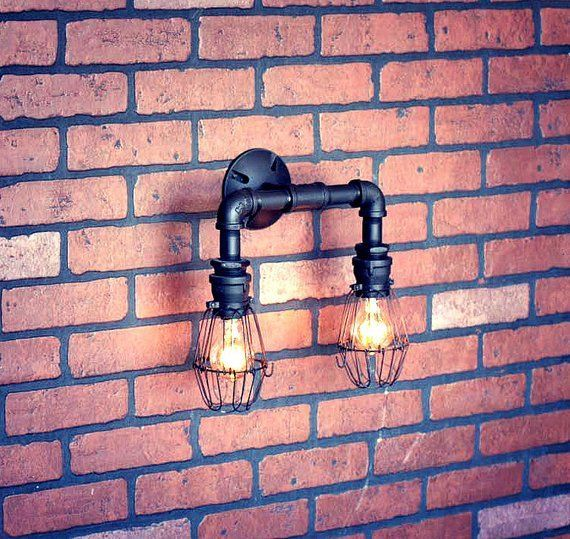 Industrial Wall Sconce Lighting By Illuminology Id Lights Industrial Wall Sconce Industrial Wall Lights Sconces