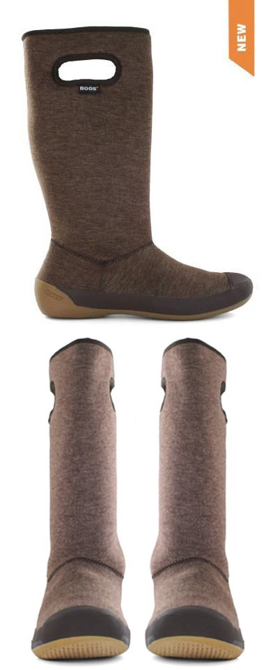 These flexible boots are 100% waterproof, very warm, and stylish! They look very comfy, and have plush lining for extra warmth.