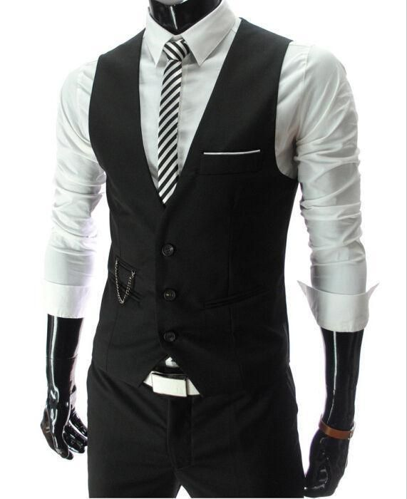 New Arrival Dress Vests For Men Slim Fit Mens Suit Vest Male Waistcoat Gilet Homme Casual Sleeveless Formal Business Jacket From Dandan0215, $14.64 | Dhgate.Com