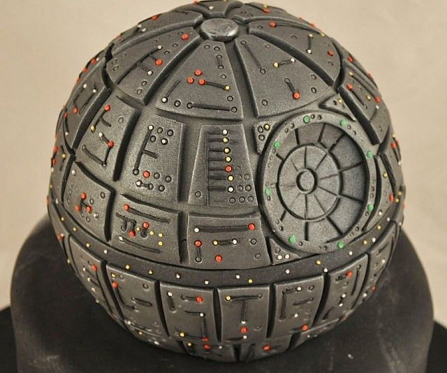 Whether you're celebrating a birthday or the toppling of an empire, there's no better way to commemorate the occasion than with a Death Star cake. This delicious buttercream filled concoction is meticulously styled out of fondant in the image of the Death Star.