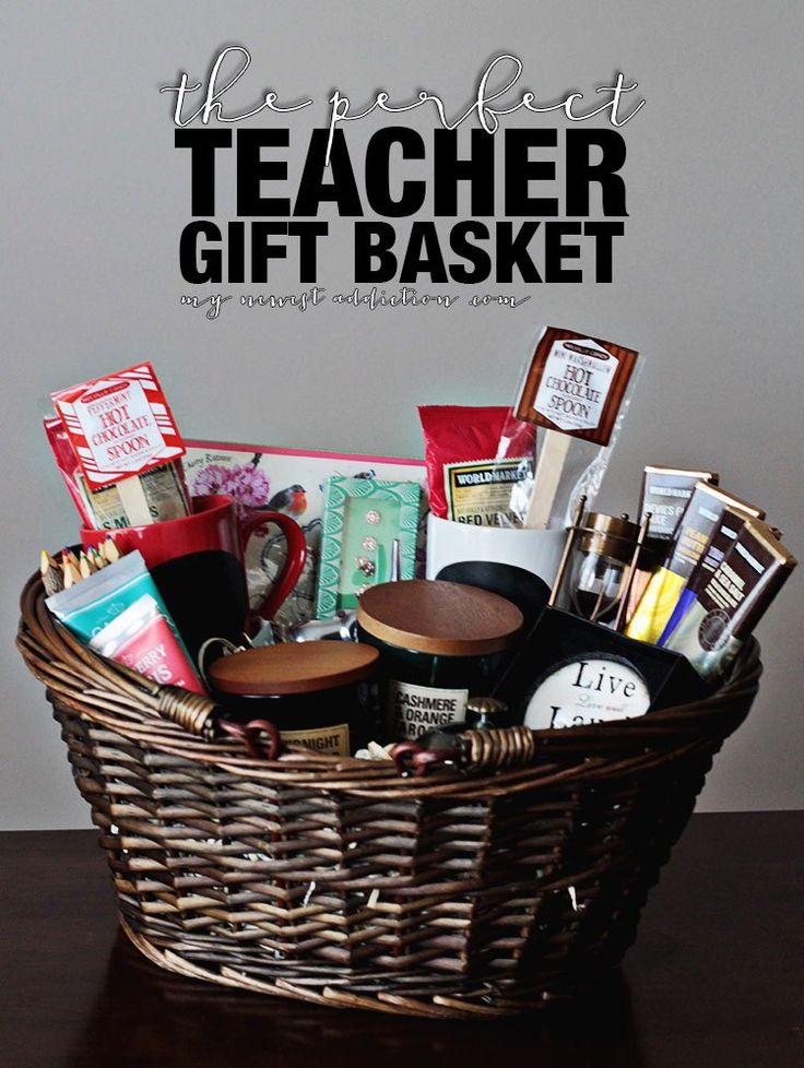 How To Create The Perfect Teacher Gift Basket via My Newest Addiction >> #WorldMarket Share the Joy -- Treats donated to teachers!