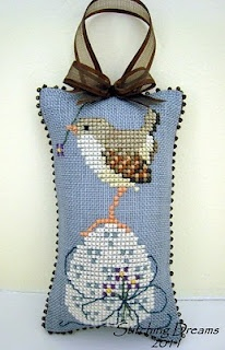 """Stitching Dreams: """"Painted Egg"""" is from the Cross-Eyed Cricket Design No. 109 chart called """"Eggs...etera."""""""