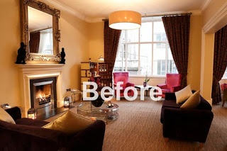 Photo Styling with David Cantwell Photography at The Fleet Street Hotel, Dublin, Ireland: Furniture Re-Arrangement for a Cosier Look and Feel. Step by step guide on how we achieved the cosier look for our photo-shoot