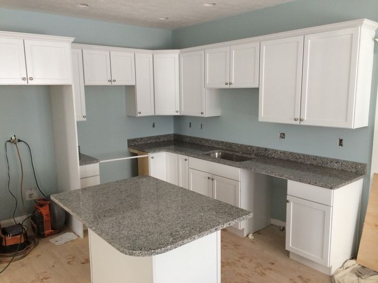 Azul Platino Kitchen With Granite Sink