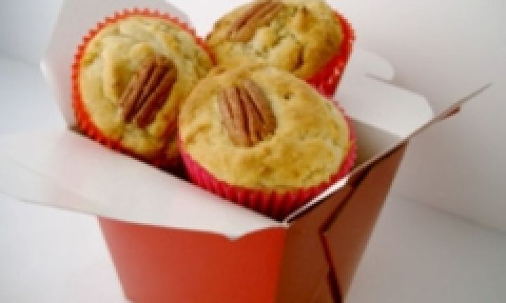 Banana muffins are an easy addition to any lunch box with very little extra sugar added - and you could add choc chips, macadamias or pecans to the mixture for variation.