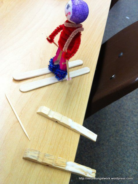 Awesome craft for the Olympics and Sprts. You can turn it into a skier or a snowboarder.