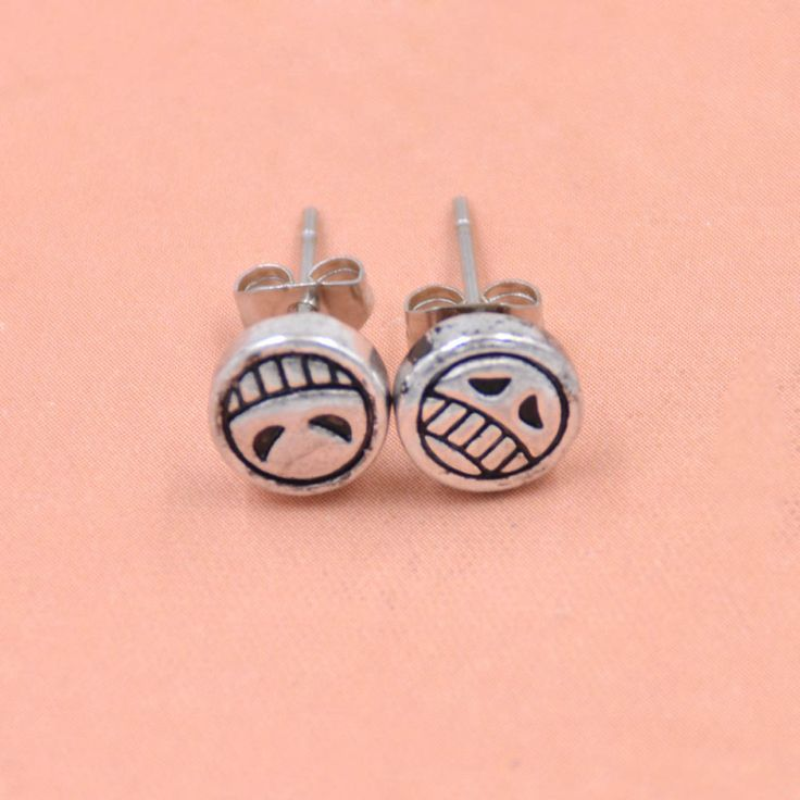 Lychee 1 Pair Hot Japan Anime One Piece Portgas D Ace Stud Earrings Cosplay Luffy