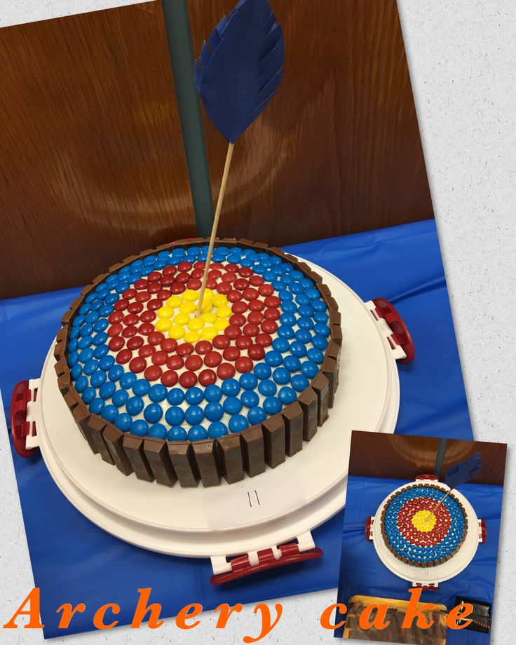 Made my own archery cake from... https://showerofroses.blogspot.com/2015/02/archery-cake.html?m=1