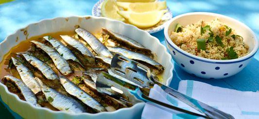 Delhaize - Sardines gevuld met verse kruiden