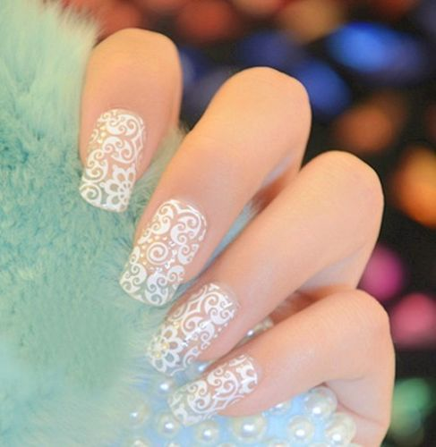 New fashion nail art crystal diy stickers tips decal decoration lace lace lace nails and Fashion style and nails facebook