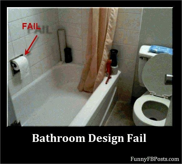 The 19 most epic bathroom fails that will make you hold it for Bathroom design fails