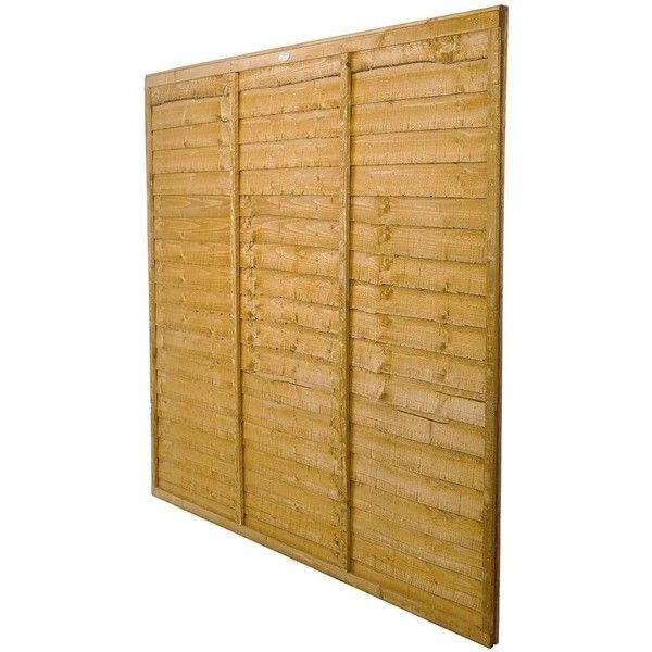 Forest Trade Lap Panel 6 X 6Ft Fence Panels (Pack Of 5) ($195) ❤ liked on Polyvore featuring home and home improvement