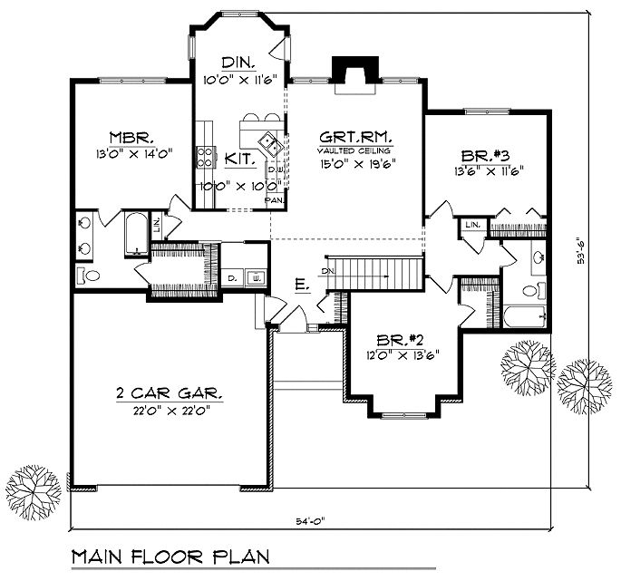 House Floor Plan For 83999 Ranch House Plans 1603 Sq Ft