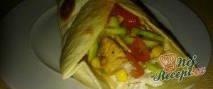 Tortilla s kuřecím masem