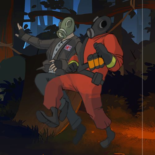 The Pyro and Mr. Foster from the Summer Sale stickers #games #teamfortress2 #steam #tf2 #SteamNewRelease #gaming #Valve