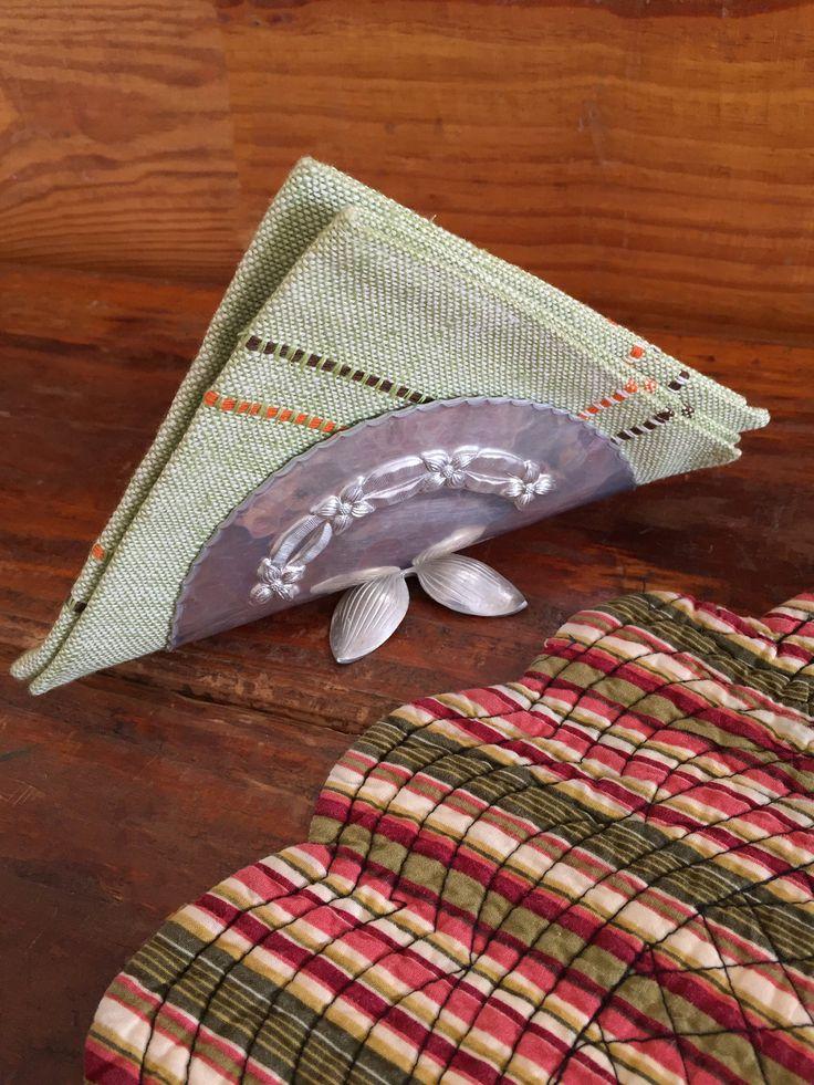 Beautiful Vintage Napkin Holder, Letter Holder, Ribbon Design, Flower Petal Feet, Kitchen Decor, Farmhouse Kitchen, Vintage Desk Accessories by SoGlamorouslyVintage on Etsy