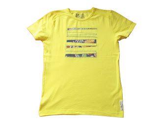 OrloSubito it: Maglietta per uomo gialla blocchi