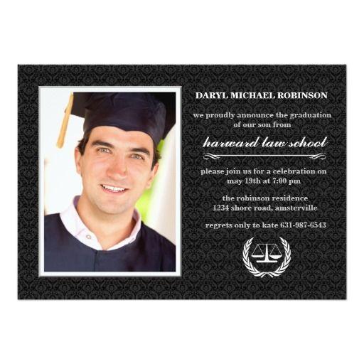 132 best law school graduation invitations images on Pinterest