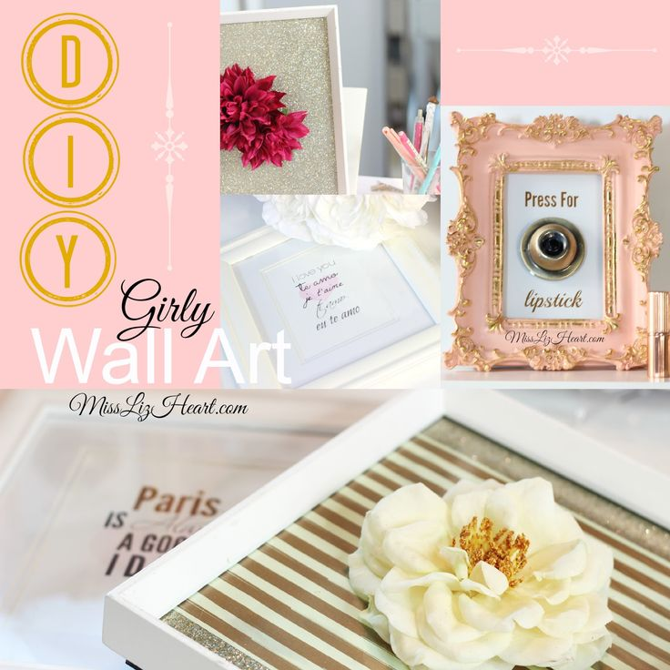 Diy Girly Wall Decor : Easy diy girly wall art and make your own press for