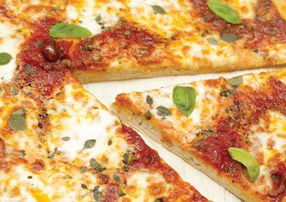 Pizza Jamie Oliver cu masline usturoi si mozzarella- 6 portii