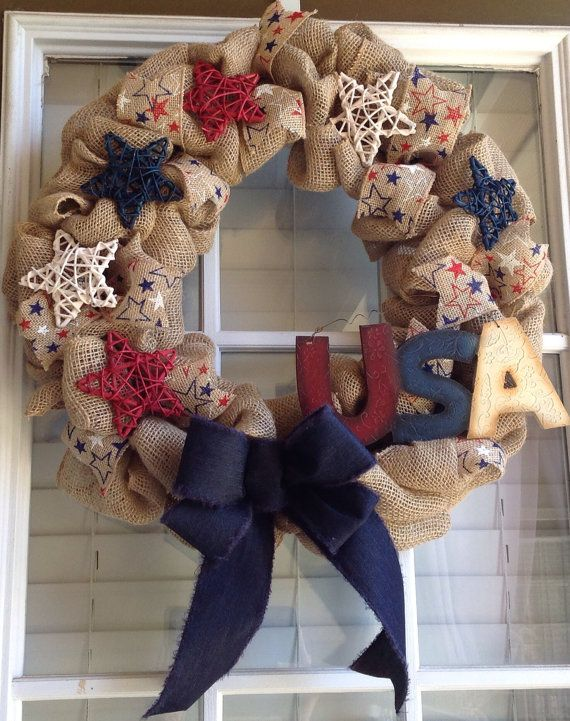 Hey, I found this really awesome Etsy listing at https://www.etsy.com/listing/187993280/patriotic-wreath-patriotic-burlap-wreath
