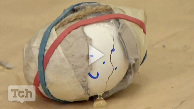 """In this lesson students design """"helmets"""" for their eggs to help prevent injury. So cool! #math #science #STEM"""