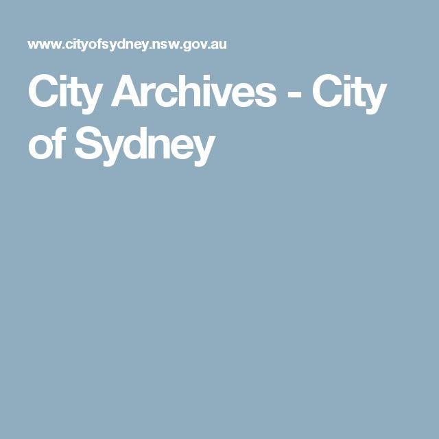 City Archives - City of Sydney