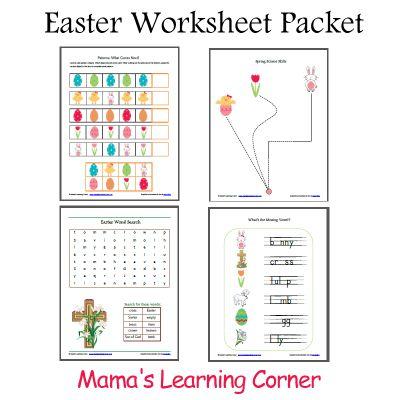 Printable Easter Worksheet Packet | Mamas Learning Corner