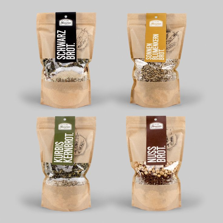 Arminius Brot — The Dieline - Branding & Packaging - kraft window stand up pouches