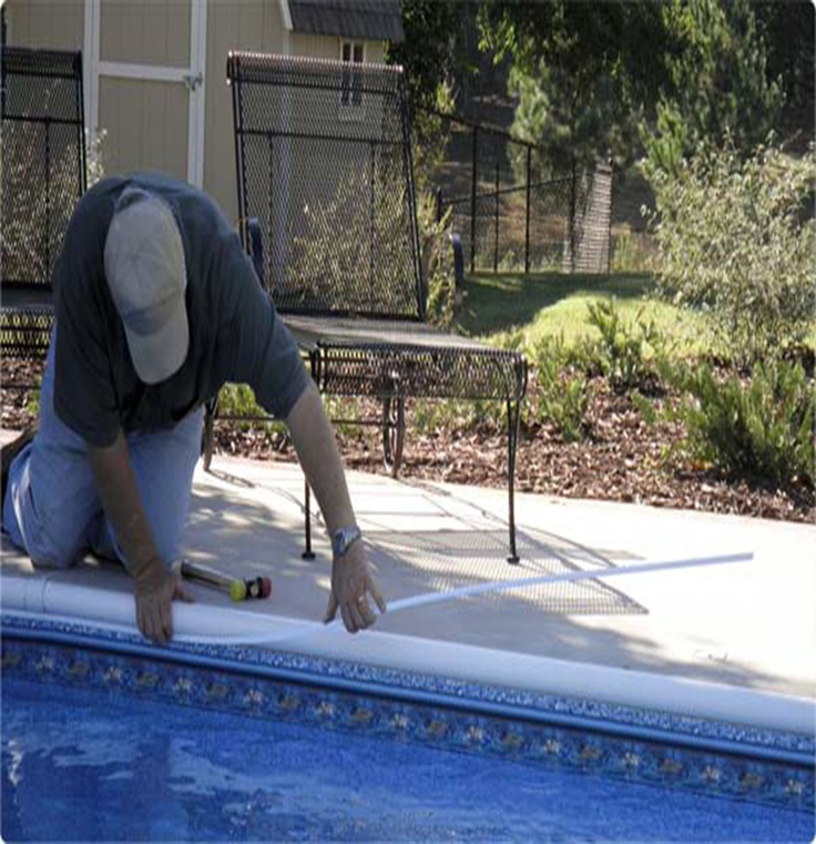 Measuring Swimming Pools : Installing your swimming pool liner is easy