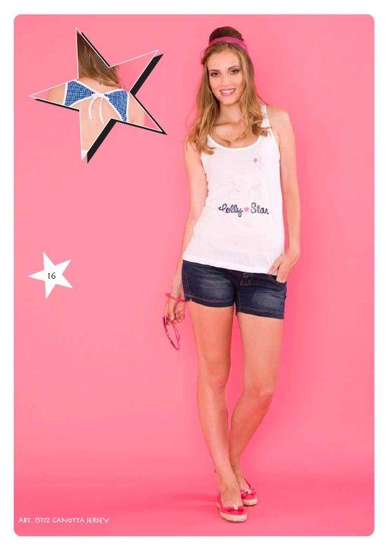 #Canotta Jersey #LollyStar - Scopri tutta la collezione qui --> http://www.lollystar.it/ #TankTop #canottiera