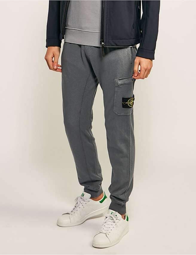 Store For Sale Clearance Store Cheap Price Grey Logo Badge Lounge Pants Stone Island Clearance Online Fake AkkmR