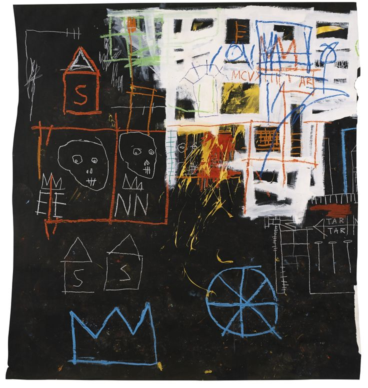 Jean-Michel Basquiat, Untitled, 1981, acrylic, oilstick and chalk on paper.