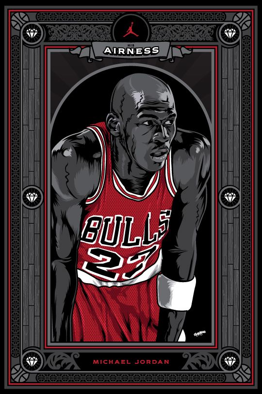 Michael Jordan 'His Airness' Poster