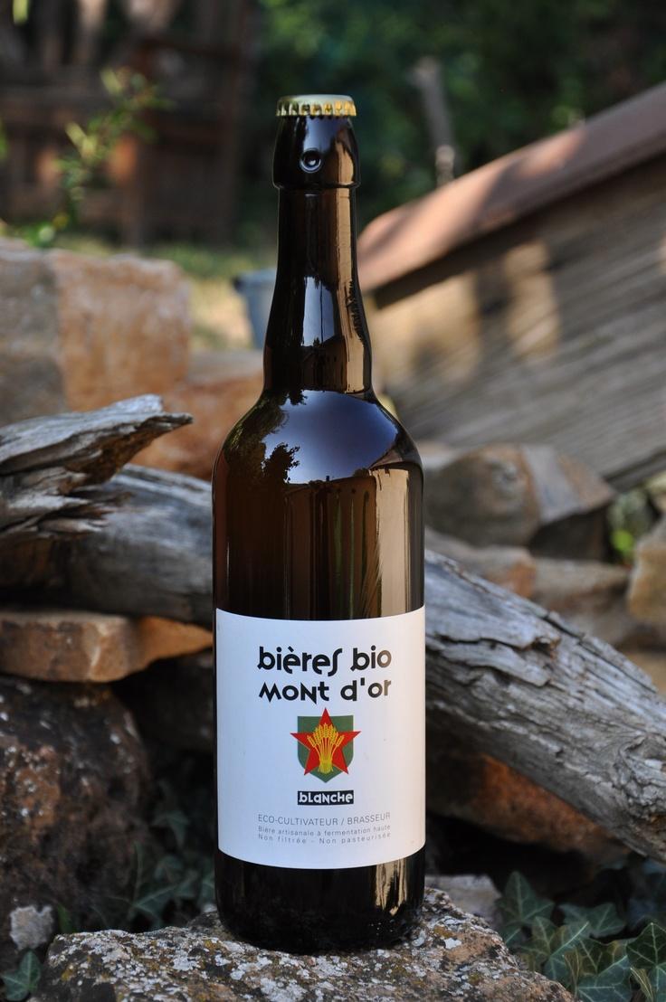 Biere blanche. Bière bio Mont d'Or