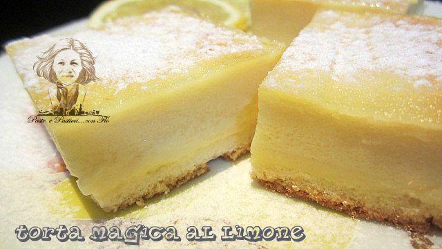 #torta #magica al #limone.......è la magia avviene nel forno...tre morbidi strati di bontà!