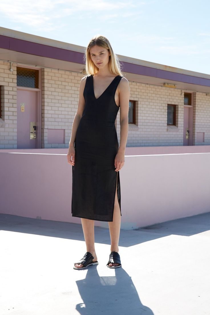 THIRD FORM RESORT 16 COLLECTION   SWEET SURRENDER DRESS  #thirdform #fashion #streetstyle #minimalism #chic #trend #dress #black