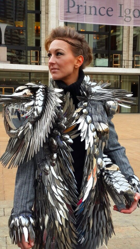 Russian model Vera at New York Fashion Week Betsey Johnson show 2014