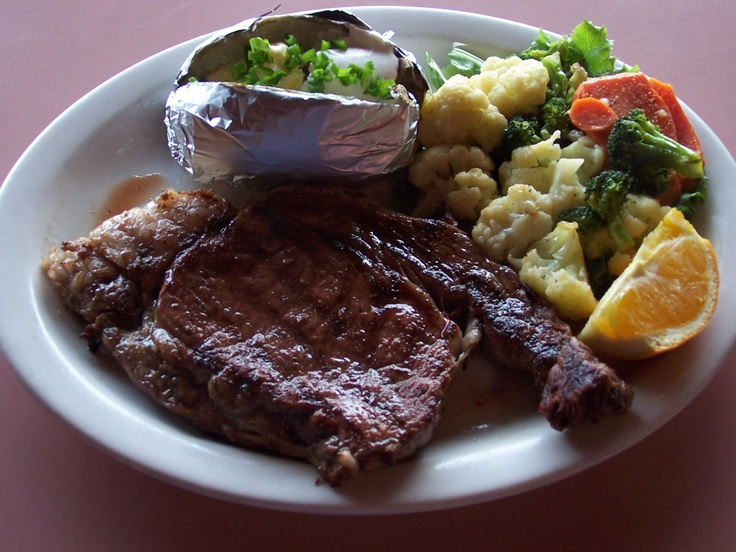 Steak Dinner at Fat Cats Cafe