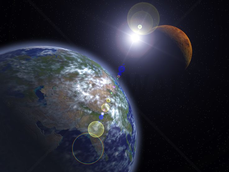The Earth and Mars - Fototapeter