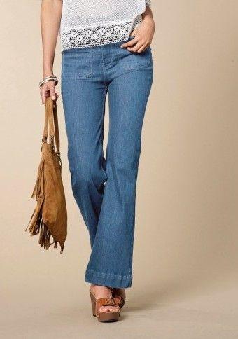 Bootcut džínsy s vysokým pásom #ModinoSK #jeans #bootcut #bootcutjeans #style