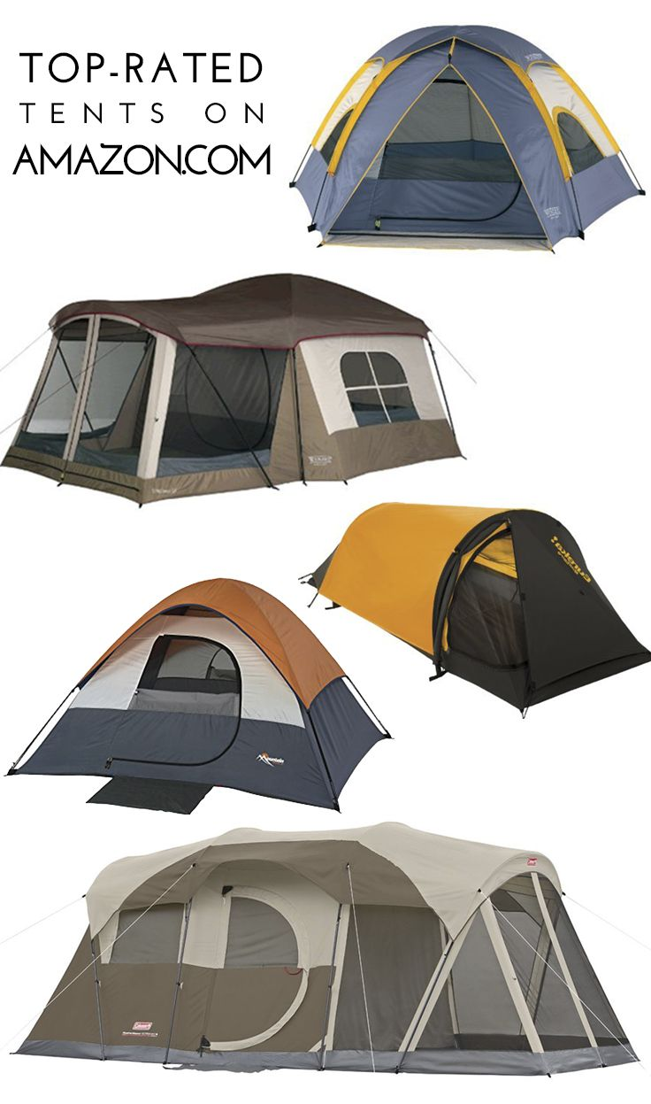 Top-rated Tents on Amazon.com, from solo backpacking tents to family-sized, cabin-like tents.