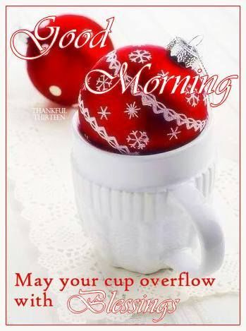 Christmas, red and white  || .. X ღɱɧღ || Good Morning May Your Cup Overflow With Blessings Quote