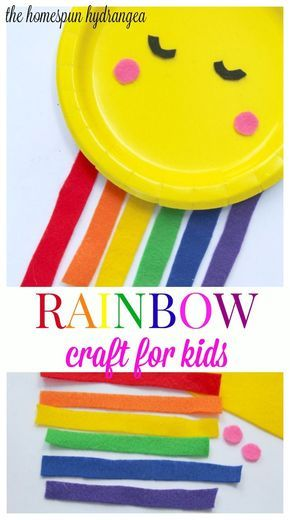 This simple Rainbow Craft for Kids is a great way to bring some color indoors!